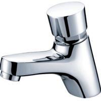 Polished Chrome Self Closing Faucet Brass Mixer Taps with CE , 0.05MPa - 0.9MPa Manufactures