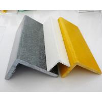 Fiberglass Pultruded FRP Angle with High Strength Smooth Surface ISO9001 Manufactures
