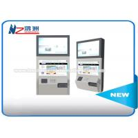 China Stand Alone Wall Mount Self Service Banking Kiosk Dual Screen Led Or LCD on sale