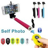 2015 hot sell wireless bluetooth monopod selfie stick with rechargeable Manufactures