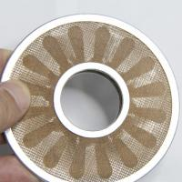 304 Stainless Steel Wire Mesh Filter Disc , Round Porous Metal Filter Disc
