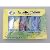 6 X 75ml Acrylic Paint Tubes Acrylic Paint Starter Colors Set For Wood / Paper / Glass Manufactures