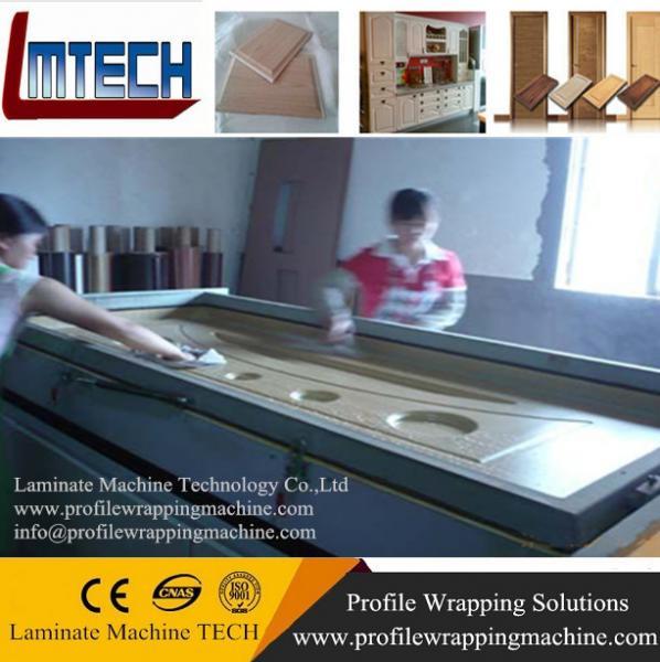 wood door making vacuum membrane press machine