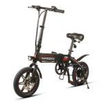 WWW.YOLCART.COM Samebike XW14 250W Smart Bicycle Folding 36V 8AH Moped Electric Bike E-bike EU Plug For Cycling Camping Manufactures