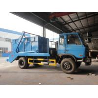 Dongfeng 4*2 10CBM swing arms garbage truck/skip loader garbage truck, 2017s new dongfeng swing arm garbage truck Manufactures