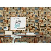 Fireproof Removable Brick Look Wallpaper Non - Pasted For Household Manufactures