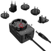 4 Plugs Interchangeable Power Adapter , 24V 0.5A Transformer Plug Adapter Level VI Manufactures