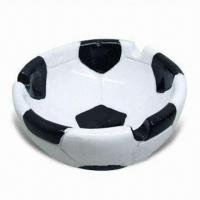 Ceramic Dish in Football Shape, EEC Food Safe and Meets FDA Standard, OEM Orders are Welcome Manufactures