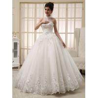 White Heart Shaped Ladies Halter Neck Wedding Dresses Princess Wedding Gowns Manufactures