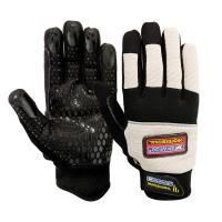 China Synthetic leather impact anti vibration mechanic glove ZMA0453 on sale