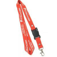 Office Promtional Polyester Custom Id Lanyards , White Logo Id Card Holder Neck Strap Manufactures