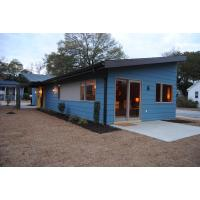 Wooden Plastic Decorate Modular Homes , Prefabricated Bungalow Homes Manufactures
