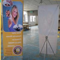 Adjustable X Stand Banners With Grommets Single / Double Sides Manufactures