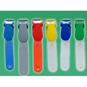 China Plastic Badge Clip w/PVC Strap on sale