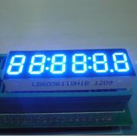 Ultra Bright Blue 6 Digit 7 Segment LED Display 0.32 Inch With Black Surface Manufactures