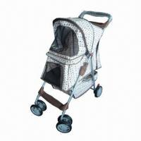 Pet Stroller with Durable Fabric and Lightweight Steel Frame Manufactures