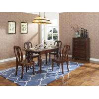 Quality Rubber Wood Home dining room furniture Long and round dining table with 4/6 for sale