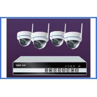 4 Channel Wireless IP Kit Indoor Dome Cameras Support Mobile Monitor Manufactures