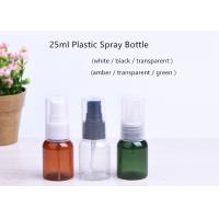 25ml Small Spray Custom Cosmetic Containers PET Plastic Material For Perfume Manufactures