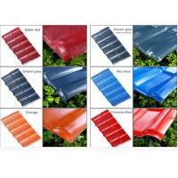 Color Coated Corrugated Pvc Synthetic Resin Roof Tile Spanish Style 1050mm Width Manufactures