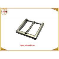 40mm Square Zinc Alloy Custom Metal Belt Buckles With CNC Engraved Logo Manufactures
