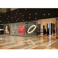 China Indoor Transparent LED Display Screen Full Color High Brightness, High transparency fixed in Shopping mall on sale