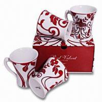 Ceramic Mug with 6 to 7oz Capacity, Customized Colors and Designs are Accepted Manufactures