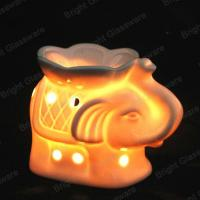 Elephant shaped white ceramic aroma oil burner for tealight candles Manufactures