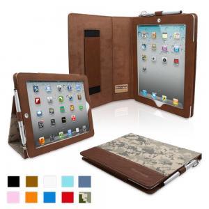iPad 4 & iPad 3 Case - PU Leather Case Cover Digital Camo Manufactures
