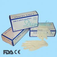 Disposable Non sterile powder-free latex exam gloves Manufactures