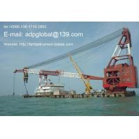 Sell used floating crane 600t 600 ton used crane barge 600t Manufactures