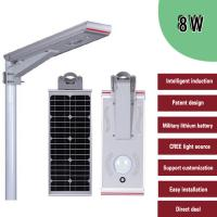 All In One Integrated Solar Street Light , Waterproof Solar Powered Street Lamp Manufactures