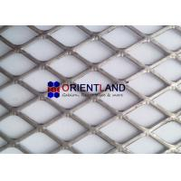 Flattened Expanded Steel Mesh , Expanded Metal Diamond Mesh Rolls And Panels for sale