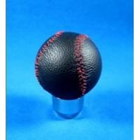 Novelty Red Line + Black Real Leather Front Racing Gear Knob Ball Shape Manufactures