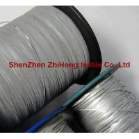 China Eco-friendly hi vis silver polyester reflective embroidery yarn material on sale