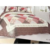 Imitated Patchwork Home Bed Quilts Brown Color Widely In Home Bedding Manufactures