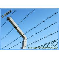 Double Twist Core Galvanized Military Barbed Wire For Security Fencing And Barriers Manufactures