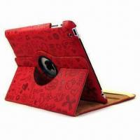 Magic Girl 360 Rotating Leather Cover for iPad 3, Easy to Access to All Control Ports Manufactures