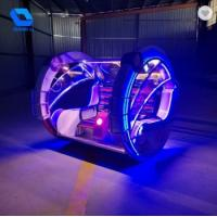 Indoor Amusement Leswing Car Plastic Decorations With 360 Degree Rotation Manufactures