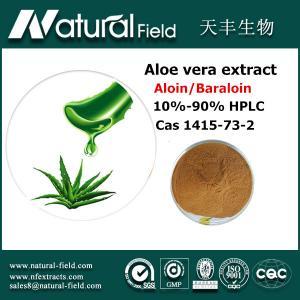 China Aloe vera gel powder Aloin 10%-90% on sale