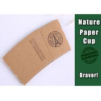 Wedding Kraft Paper Cup Sleeves Heat Insulation With Food Grade Printing Manufactures