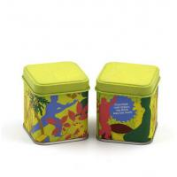 43x43x65mm Mini Full Color Printed Spice Square Tin Containers With Matte Varnish Manufactures