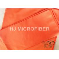 Polyester Microfiber Car Cleaning Cloths Orange , Microfiber Car Drying Towels Manufactures