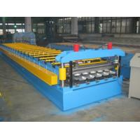China 0.4-0.8mm Thickness Color Aluminum Trapezoidal Corrugated Sheet Roll Forming Machine IBR Type on sale