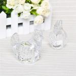 Hnad craft art glass collectable galss hen cute animal clear galss hen figurine Manufactures