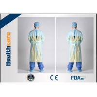 PE / CPE Plastic Disposable Isolation Gowns , Patient Surgical Gowns S-XL Size Manufactures