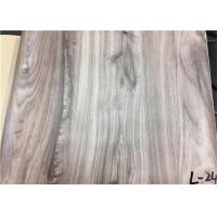 Wood Textured Pattern PVC Laminated Plastic Film Easy To Clean For Wall Panel Manufactures