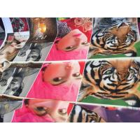 100% Polyester Digital Printing Fabric Plain Style 75D * 75D Yarn Count For Curtain Manufactures