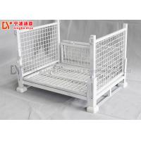 High Durable Metal Pallet Box Storage Container , Galvanized Plastic Pallet Cages Manufactures