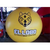 0.18mm PVC Party Inflatable Helium Balloons Inflatable Yellow Flying Balloon Manufactures